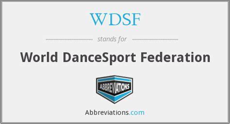 world dancesport federation wdsf world dancesport federation
