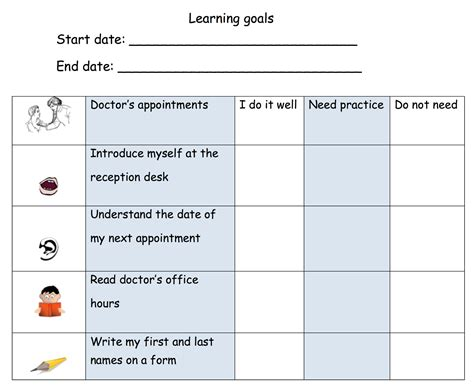 learn template teach2learnesl goal setting for learning management in