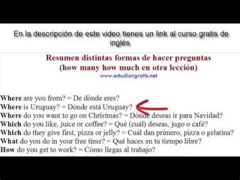 preguntas con who do en ingles ejemplos de c 243 mo hacer preguntas en ingles youtube