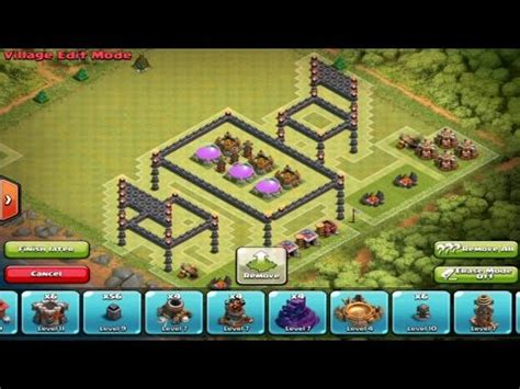 3d Puzzle Coc Clash Of Clans Box clash of clans awesome town 7 troll base design 3d box jump base troll base phim