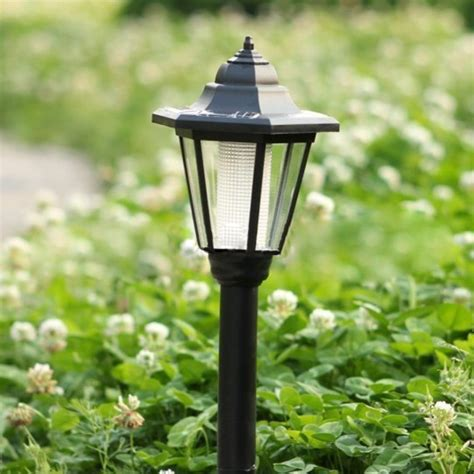 solar powered garden lights solar powered hex l led lawn garden l light