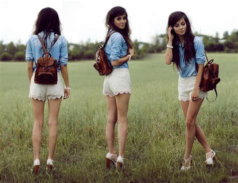 sonja gje denim skirt shorts suga suga lookbook