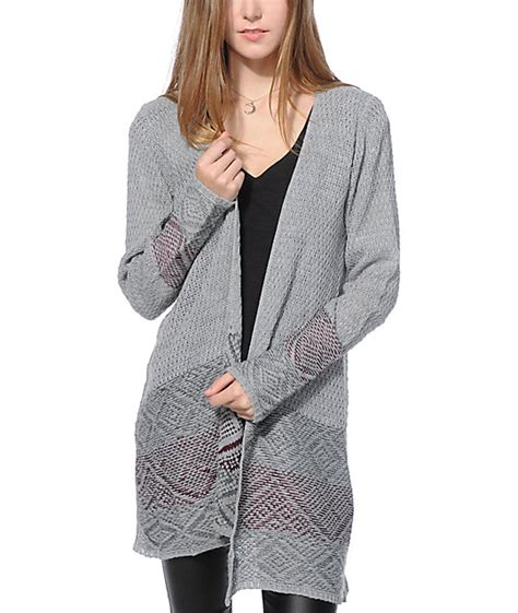 Sweater Tribal Grey trillium grey burgundy tribal sweater