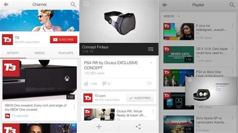 new youtube layout ios youtube app updated for ios 7 brings new design download