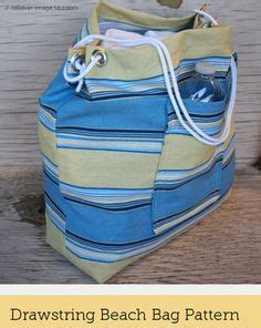 Drawstring Bag Tapis bag sewing patterns and tutorials on