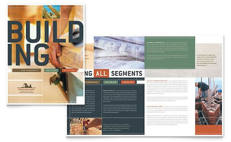 Construction Brochure Template home builders construction brochure template design