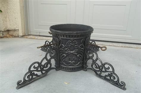 heavy cast iron christmas tree stand vintage ornate cast iron tree stand heavy duty steunk
