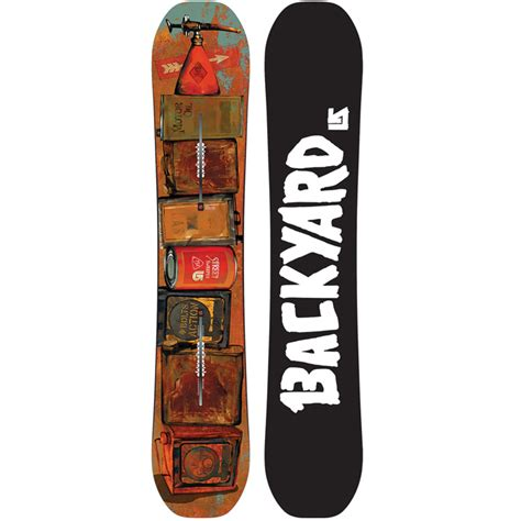 backyard snowboards burton street sweeper backyard project snowboard at salty