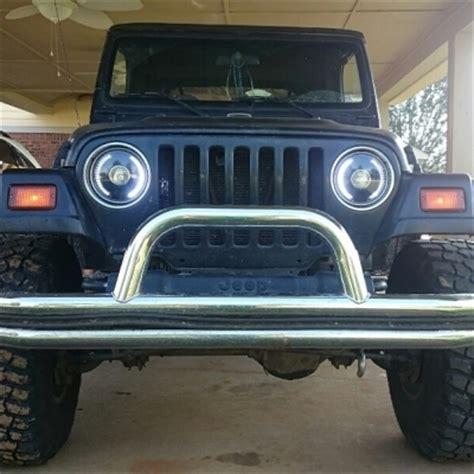 jeep tj headlight conversion jeep wrangler 1997 2006 led black sealed beam projector