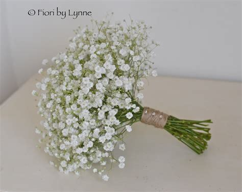 Wedding Bouquet Gypsophila by Wedding Flowers August 2013