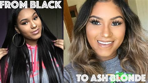 dark hair after 70 how to dye black hair ash blonde ft bossxtend brazilian