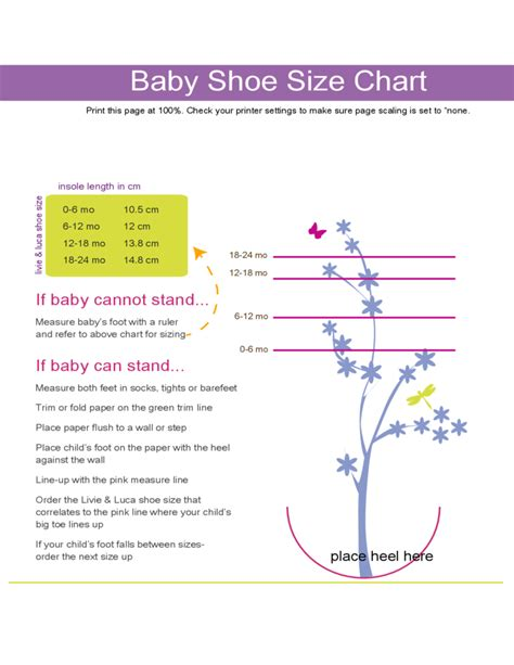 shoe size chart download baby shoe size chart free download