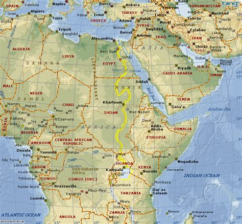 africa map nile river nile river on map of africa map of africa