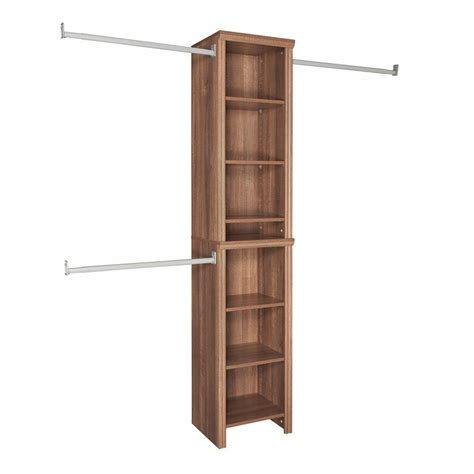 closetmaid impressions 4 ft to 9 ft w walnut brown