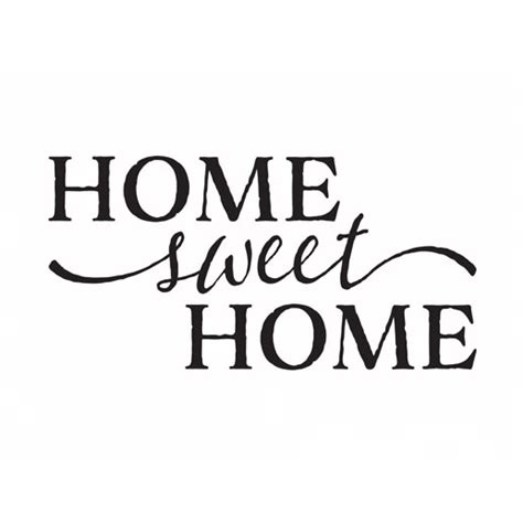 home sweet home vinyl wall decal by signs