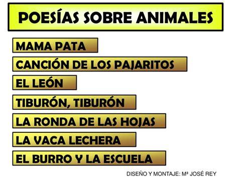 poema de los animales poes 237 as sobre animales