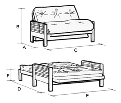 futon bed dimensions detroit 2 seat futon sofa bed