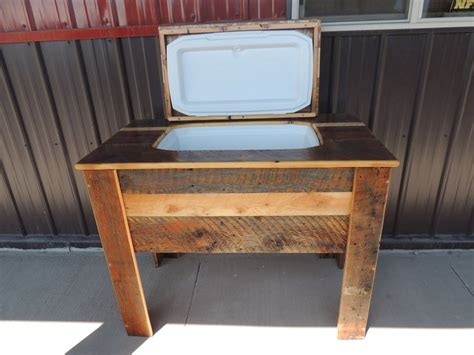 Cooler Table by Custom Barn Wood Cooler Table Custom Misc Furniture