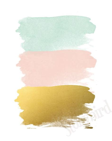 color spot nursery abstract set of three wall prints mint gold and pink