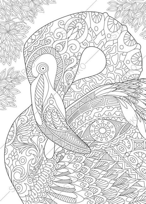 coloring pages  adults flamingo bird adult coloring