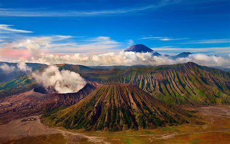 mount bromo active volcano tengger massif  east java
