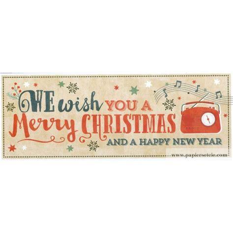 carte double     merry christmas