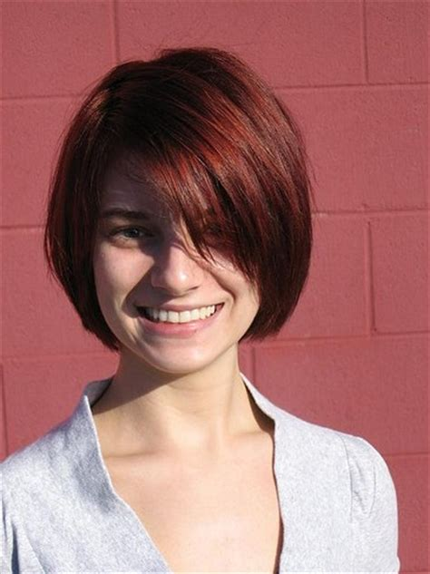 short hairstyles 2013 bobs with side bangs short haircuts with bangs side swept choppy straight