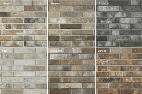 colors of brick tiles unlimited s cutting edge brick look tile adds