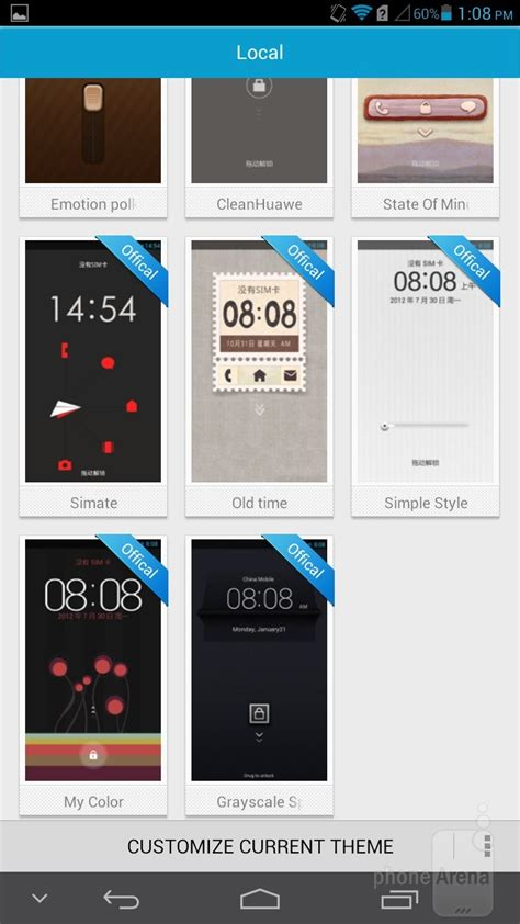 huawei themes work huawei ascend mate review interface and functionality