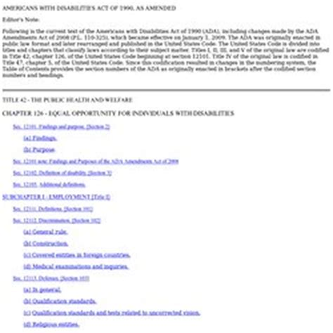 42 usc section 12101 americans with disabilities act pearltrees