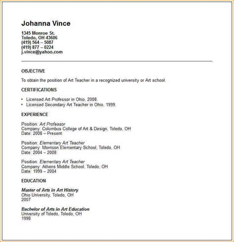 How To Make A Resume Exle by 12 How To Make Teaching Cv Basic Appication Letter