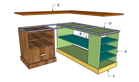 Corner Desk Building Plans Corner Desk Plans Howtospecialist How To Build Step By Step Diy Plans