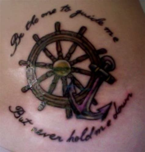 anchor and wheel tattoo designs ship wheel and anchor for best friends wheel