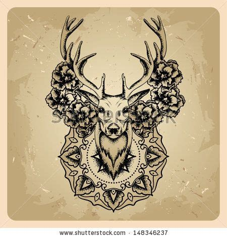 tattoo mandala deer elk skull and flowers tattoo pinterest circles