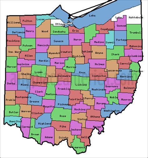 map of ohio counties free ohio maps