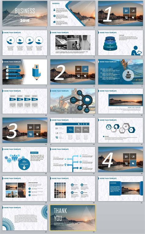 free blue lines professional powerpoint template
