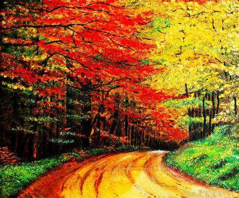 colorful tree oil paintings www imgkid com the image