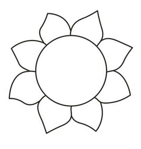 sunflower template printable sunflower template to cut out www imgkid the image