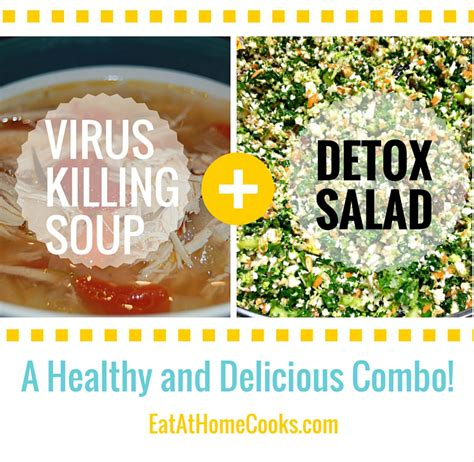 Virus Detox by Healthy Soup Salad Combo For Winter Eat At Home