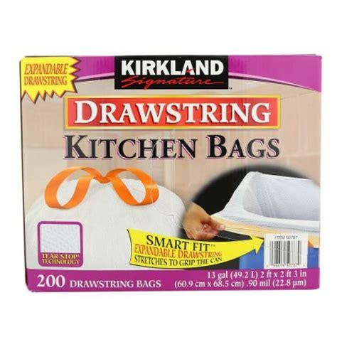 Kirkland Kitchen Bags by Kirkland Signature Drawstring Kitchen Trash Bags 13 Gallon 200 Count Walmart