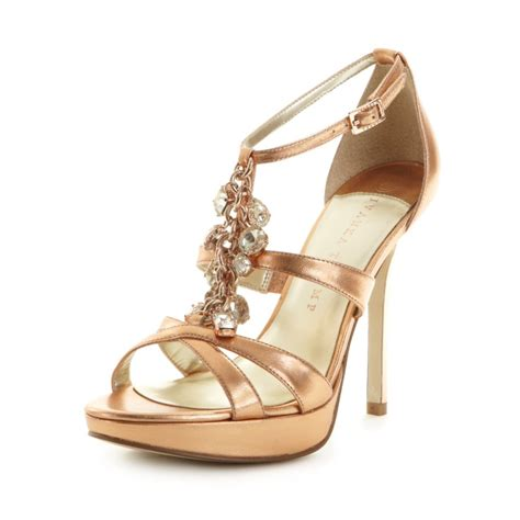gold evening sandals ivanka anabella evening sandals in gold gold