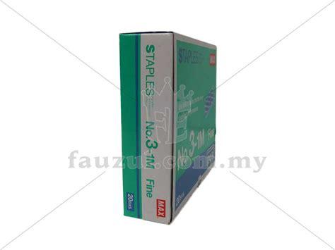 Staples No 3 max staples no 3 1m 24 6 20box fauzul enterprise