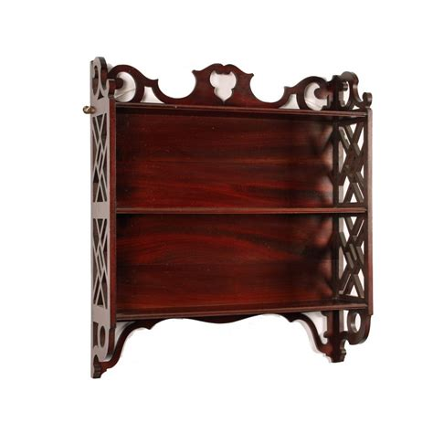 Mahogany Shelf by Antique Chippendale Style Wall Shelves Antique Mahogany