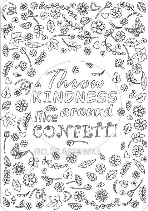 printable throw kindness   confetti