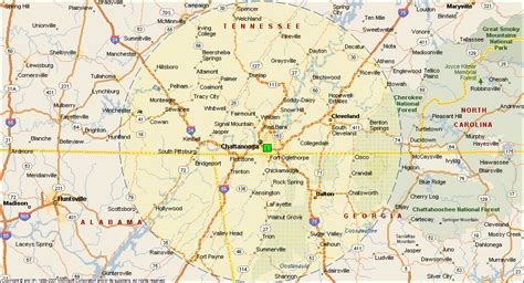 chattanooga map map of chattanooga tn world map 07