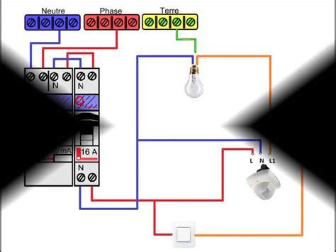 Interrupteur Detecteur De Mouvement Va Et Vient by Sch 233 Ma Electrique D 233 Tecteur De Pr 233 Sence Avec Interrupteur