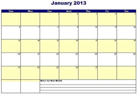 Electronic Calendar Template 2015