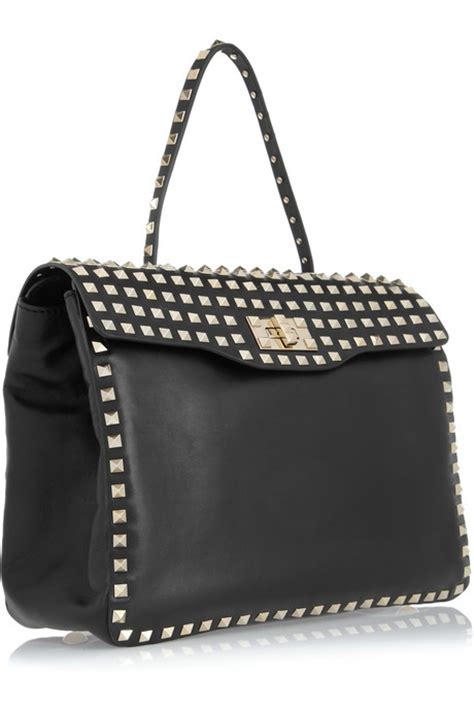 Valentino Studded Tote by Valentino Rockstud Studded Leather Tote All Handbag Fashion