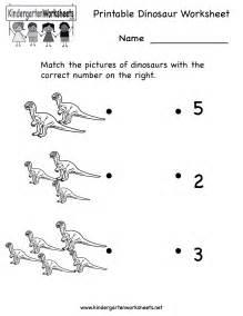 printable kindergarten worksheets printable dinosaur