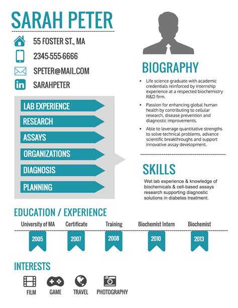 how to make an infographic resume updated venngage